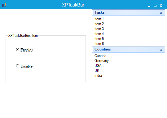 Before disabling the items in the XPTaskBarBox