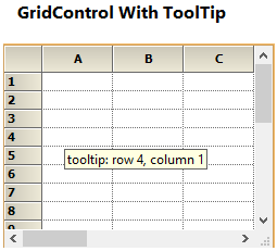 Show the tooltip in GridControl