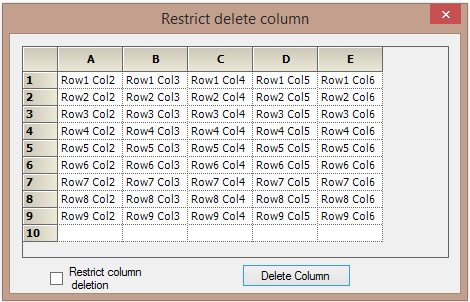 Restrict the deleted column in gridcontrol