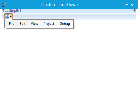 Custom Dropdown loaded in the ToolStripDropDown button