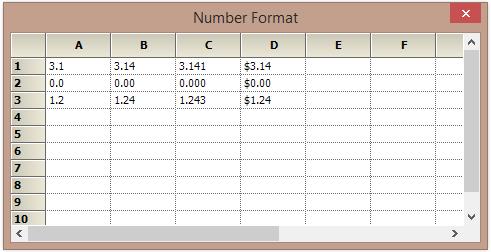Number in decimal format