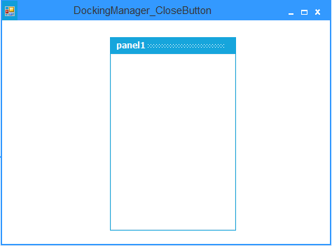 Showing after remove  close button in floating control