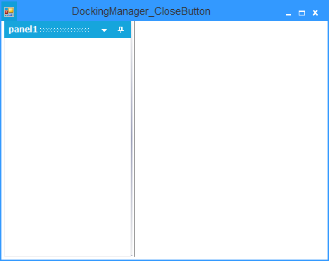 Showing after remove the close button in docked controls