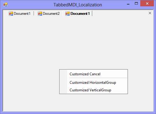 Context menu when creating to new group