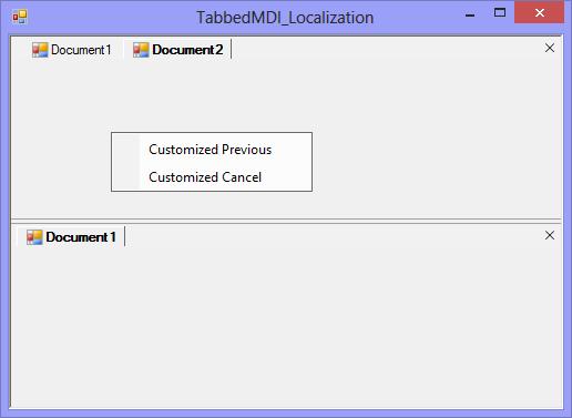 Context menu when moves to previous group
