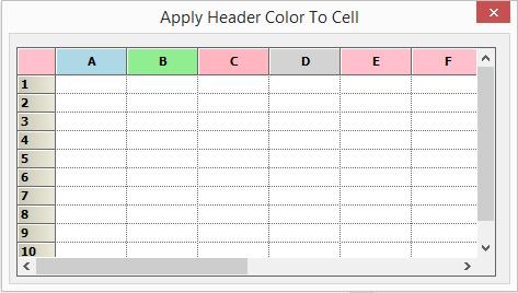 Applied header color