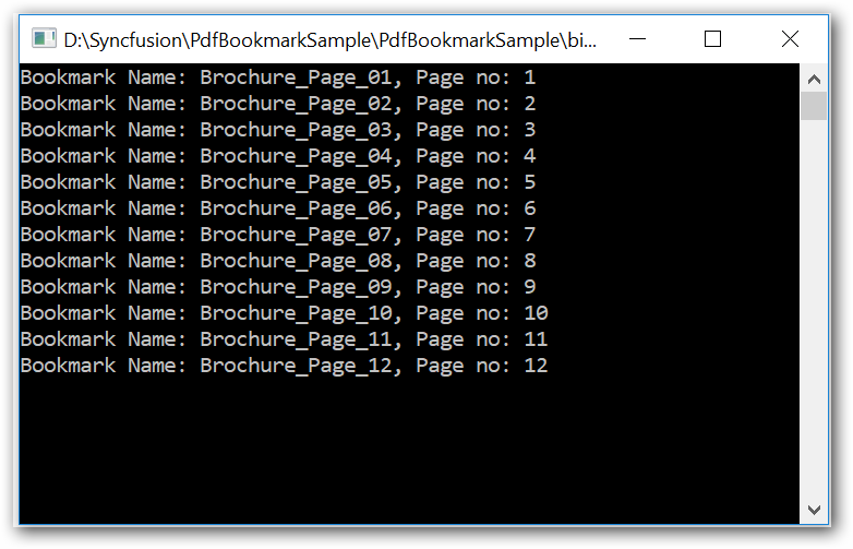 Console window screenshot