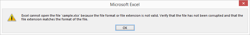 Show the error message while exporting grid to excel