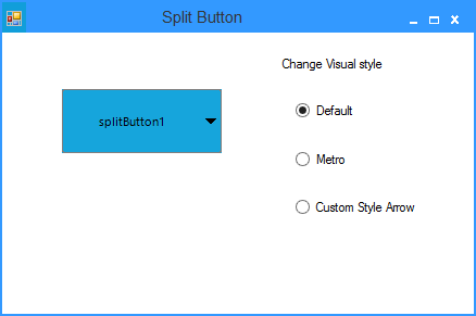 Show the default arrow of splitbutton