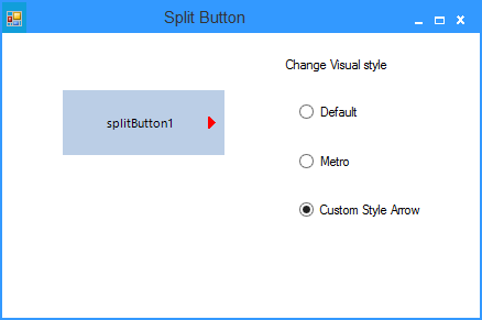 Show the custom arrow of splitbutton