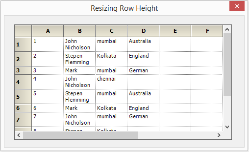 Resize the row height in GridControl
