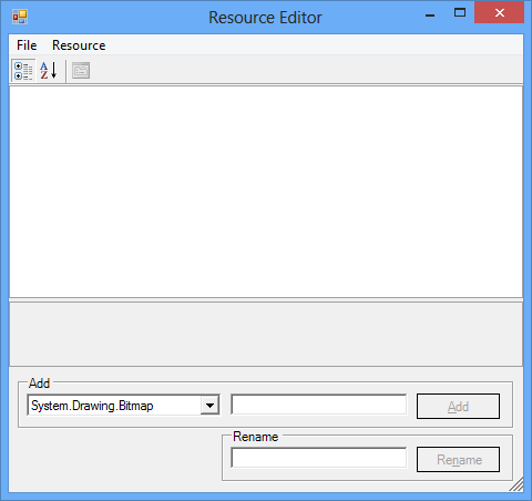 Showing Resource editor