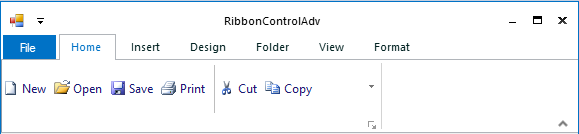 Hide the ribbon display option