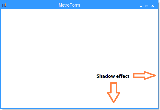 Shadow effect of the MetroForm