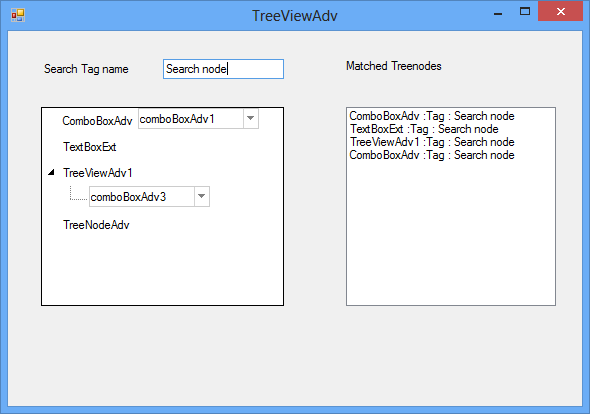 Search TreeNodeAdv by using its tag value