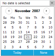 Before selecting date