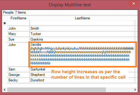 Display the multiline text in GridGroupingControl