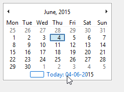 Show the date in cell dropdown