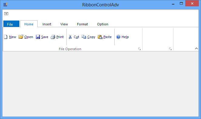 Before reduce empty space in RibbonControlAdv