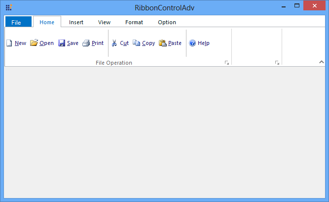 After reduce empty space in RibbonControlAdv