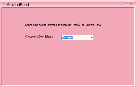 Colorscheme is set as Managed