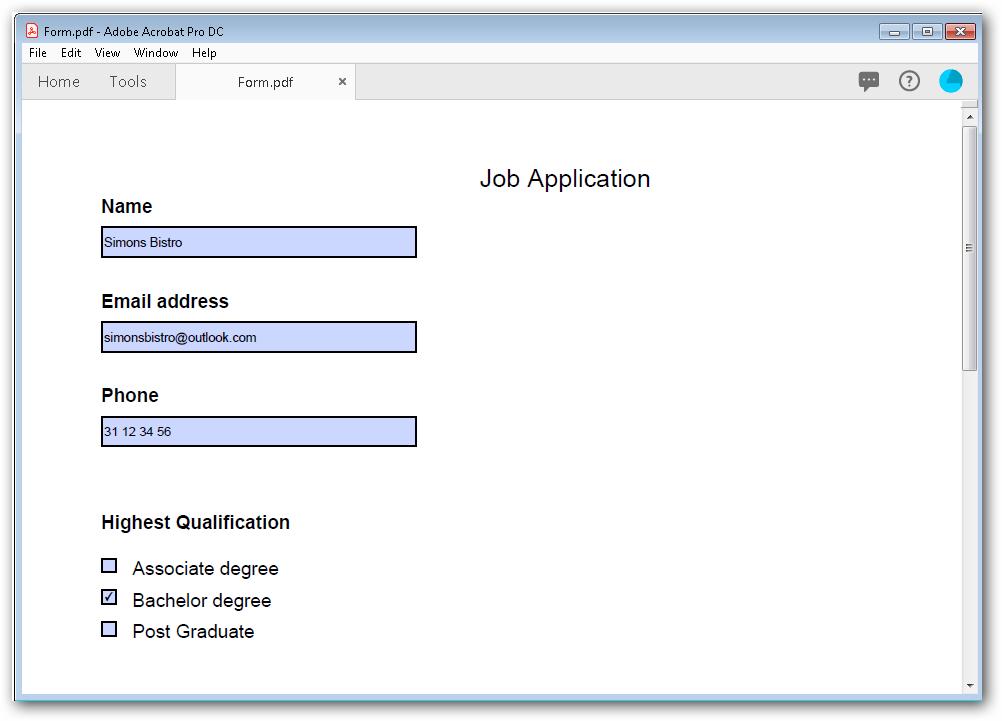 Output document screenshot