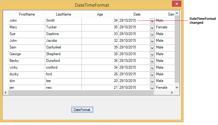 Change the date time format in WinForms GridGroupingControl