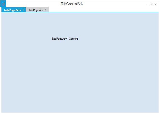 Before separating the tab page from the TabControlAdv