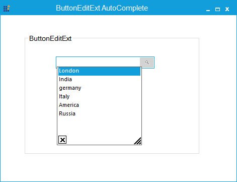 AutoComplete popup shows on ButtonEditExt