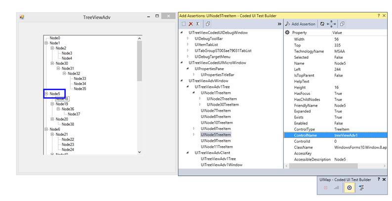 Assert window for TreeViewAdv in Coded UI Test Builder