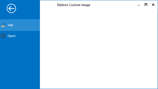 Before applying the custom header image in BackstageView