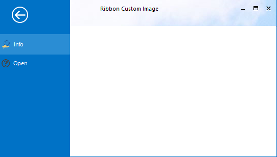 After applying the custom header image in BackStageView