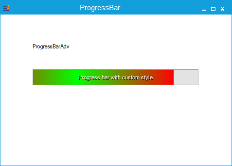 Progress style specified as Waiting gradient
