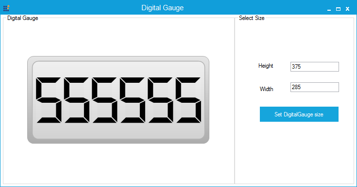 Digital Gauge specified with maximum size