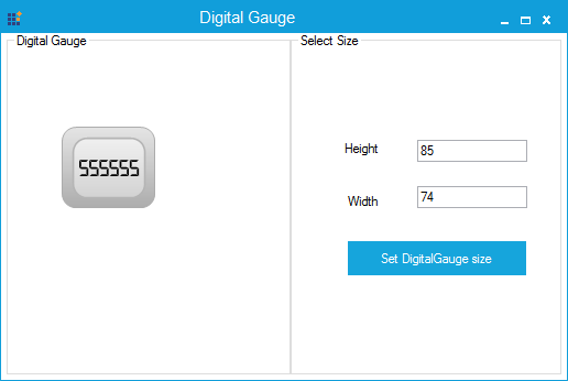 Digital Gauge specified with minimum size