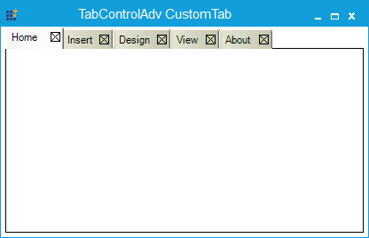 After customizing the TabControlAdv