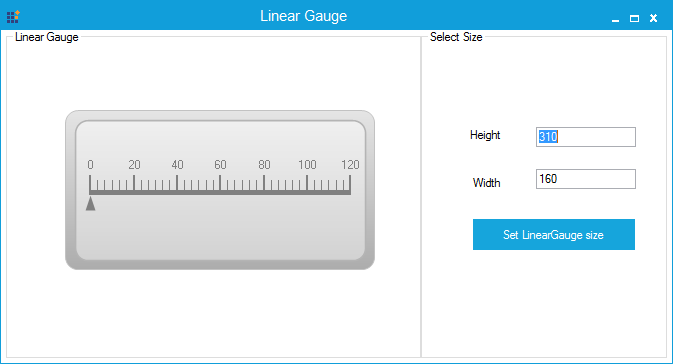 LinearGauge with specified size