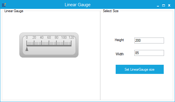LinearGauge with specified minimum size