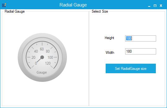 RadialGauge with minimum size specified