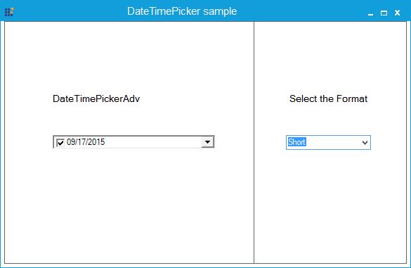 Showing short date format