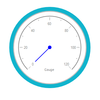 RadialGauge specified with needle color