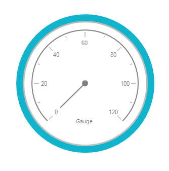 RadialGauge specified with default needle style