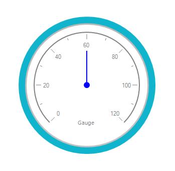 RadialGauge value is set as 60