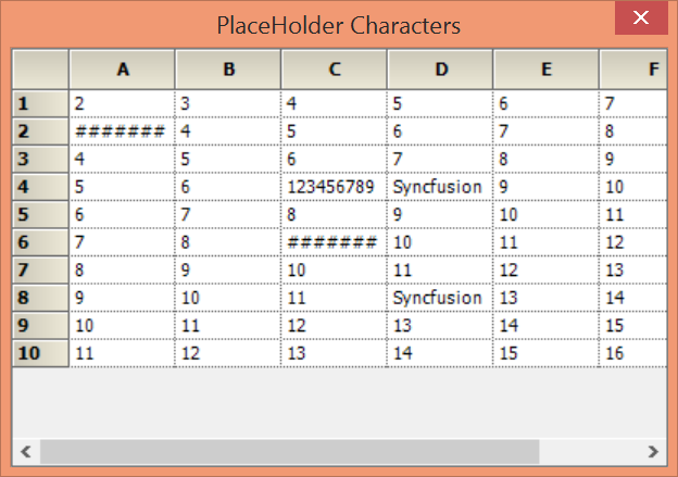 Showing placeholder characters in GridControl