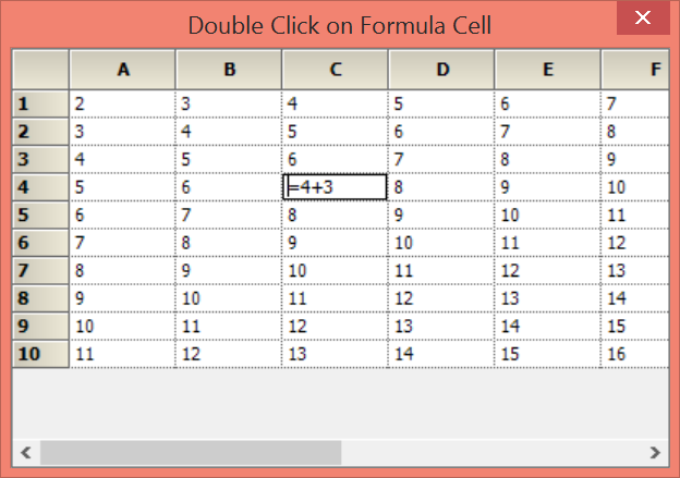 shows the formula in a cell
