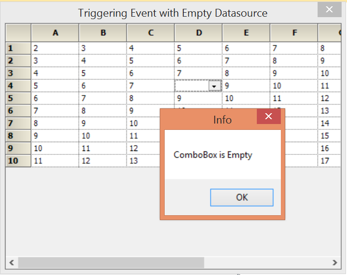 Showing empty ComboBox in GridControl