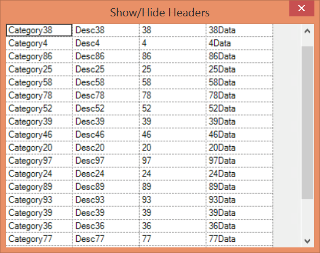 Hide the row and column headers in GridDataBoundGrid