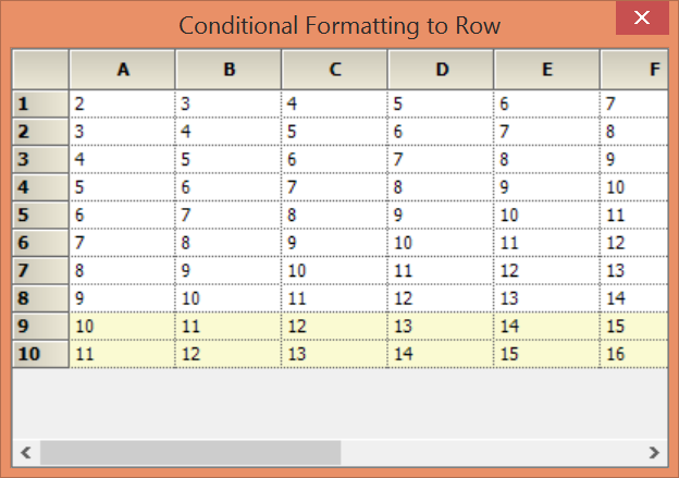 Showing backcolor by using conditional formatting to row in GridControl