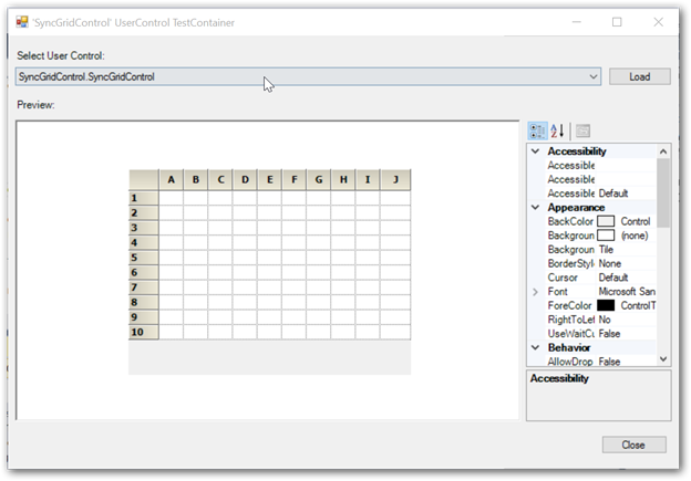 Showing Grid control in Visual Basic
