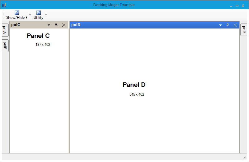 Maintain control size in Docking Manager